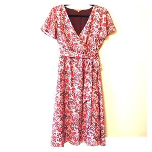 ModCloth Faux Wrap Dress, Fully Lined, Sz XL